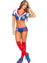 Anime Costumes AF-S2-595083 Halloween Football Cheering Squad Costume Multicolor Polyester Costume for Women