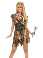 Anime Costumes AF-S2-595053 Halloween Adult Cavewoman Costume Savage Female Costume Cosplay