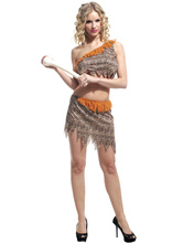 Anime Costumes AF-S2-595047 Halloween Cavewoman American Aborigines Costume Savage Female Costume Cosplay