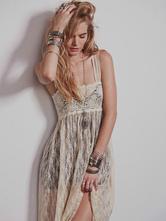 bbaff54b25a Straps Maxi Dress Black Lace Semi-Sheer Cover Up Dress - Milanoo.com