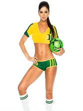 Anime Costumes AF-S2-595075 Halloween Australia Football Cheering Squad Costume Multicolor Polyester Costume for Women