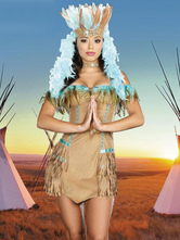 Anime Costumes AF-S2-595049 Halloween Native American Indian Ladies Wild West Costume
