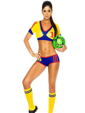 Anime Costumes AF-S2-595073 Halloween Columbia Football Cheering Squad Costume Multicolor Polyester Costume for Women