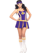 Anime Costumes AF-S2-595107 Halloween The Laker Basketball Cheering Squad Polyester Costume for Women