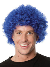 Anime Costumes AF-S2-595503 Halloween Clown Deep Blue Unisex Funny Wig