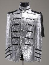 Anime Costumes AF-S2-595575 Men's Retro Costume Silver Rococo Overcoat Court Uniform Cloth Costume