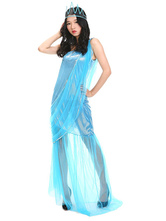 Anime Costumes AF-S2-595537 Halloween Statue of Liberty Dress Blue Women's American Costume