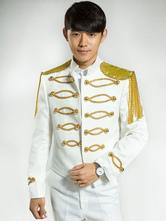 Anime Costumes AF-S2-595585 Men's Retro Costume White Rococo Overcoat Fringe Court Uniform Cloth Costume