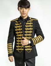 Anime Costumes AF-S2-595583 Men's Retro Costume Black Rococo Overcoat Punk Court Uniform Cloth Costume