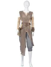 Anime Costumes AF-S2-595543 Star Wars Rey Halloween Cosplay Costume