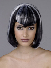Anime Costumes AF-S2-595913 Bangs Short Wig Synthetic 8 Inches Full Wig With Highlights