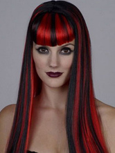 Anime Costumes AF-S2-595925 Red Bangs Straight Long Wig With Highlights