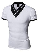 Weißes T-Shirt Slim Fit Baumwolle T-Shirt für Männer