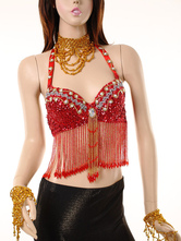 Belly Dance Costume Red Woman's Bollywood Dance Bra