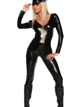 Anime Costumes AF-S2-598549 Halloween Black Club Dancing Catsuit PU Sexy Jumpsuit for Women