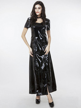 Anime Costumes AF-S2-598559 Halloween Black Club Dance Dress Sexy PU Maxi Dress