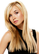 Anime Costumes AF-S2-598925 Light Gold Wig Long Straight Synthetic Wig for Women