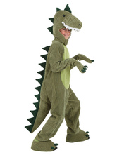 Anime Costumes AF-S2-599335 Green Dinosaur Chic Costume Polyester Kid Costume