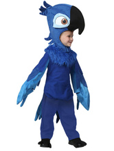 Anime Costumes AF-S2-599341 Blue Parrot Costume Polyester Kid Costume for Boys