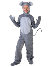 Anime Costumes AF-S2-599327 Gray Cute Mouse Costume Polyester Kid Costume