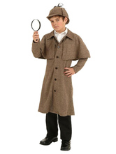 Anime Costumes AF-S2-599321 Multicolor Sherlock Holmes Costume Polyester Kid Costume