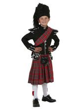 Anime Costumes AF-S2-599331 Multicolor Scottish Kilt Costume Polyester Kid Costume