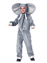 Anime Costumes AF-S2-599329 Gray Elephant Costume Polyester Kid Costume