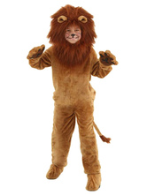 Anime Costumes AF-S2-599351 Brown Lion Costume Polyester Kid Costume