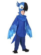 Anime Costumes AF-S2-599343 Blue Parrot Costume Chic Polyester Kid Costume for Boys