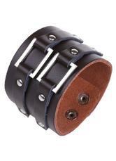 Black Buckle Bracelet Faux Leather Bracelet for Men