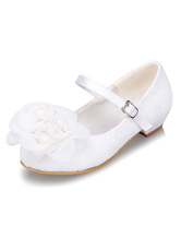 White Flower Girl Shoes Flower Lace Chic Shoes for Girls