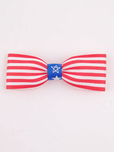 Anime Costumes AF-S2-603103 Independence Day Stripes Print Chic Bow Hair Accessories