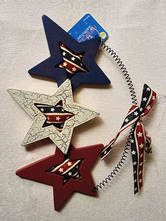 Anime Costumes AF-S2-603077 Independence Day American Wood Star Decors