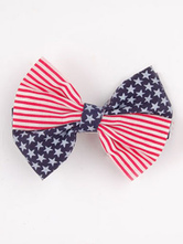 Anime Costumes AF-S2-603097 Independence Day American Flag Print Bow Hair Accessories
