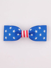 Anime Costumes AF-S2-603105 Blue Independence Day Print Bow Hair Accessories