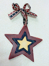 Anime Costumes AF-S2-603073 Independence Day Dark Red Star Decors