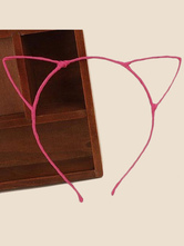 Anime Costumes AF-S2-603505 Halloween Pink Cat Ear Cut Out Plastic Cosplay Hairband for Women
