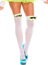 Anime Costumes AF-S2-603535 Halloween Bow Mustache Stockings Over-The-Knee Cosplay Stockings