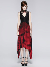 Anime Costumes AF-S2-603785 Women's Retro Costume Red Gothic Sleeveless Asymmetric Vintage Dress