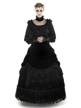 Anime Costumes AF-S2-603769 Black Retro Costume Gothic High Waisted Long Sleeve Lolita Dress