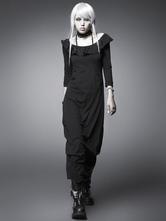 Anime Costumes AF-S2-603767 Halloween Retro Costume Black Ruffle Cotton Maxi Dress