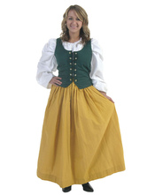 Anime Costumes AF-S2-603881 Yellow Renaissance Halloween Costume For Woman