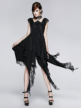 Anime Costumes AF-S2-603763 Gothic Vampire Dress With Irregular Hemline Retro Costume Lace Dress