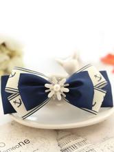 Lolitashow Navy Blue Lolita Hairpin Sailor Style