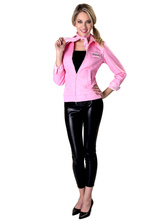 Anime Costumes AF-S2-604523 50s Authentic Grease Pink Ladies Jacket For Halloween