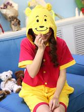 Anime Costumes AF-S2-605251 Kigurumi Pajama Winnie the Pooh Onesie Adults Cotton Anime Costume For Summer