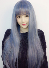 Anime Costumes AF-S2-605315 Women's Illusion Blue Wave Bangs Synthetic Wigs