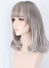 Anime Costumes AF-S2-605313 Light Gray Curls at Ends Synthetic Wigs