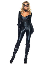 Anime Costumes AF-S2-607535 Sexy Cat Girl Costume For Woman Catsuit Halloween Night Club Stage Outfits