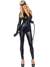Anime Costumes AF-S2-607539 Halloween Sexy Cat Woman Jumpsuit Catsuit Saloon Girl Night Club Costume